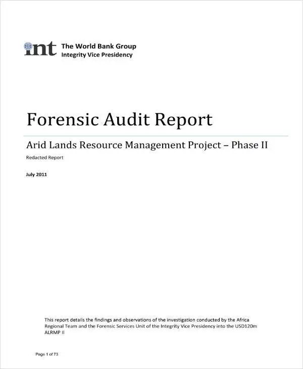 8+ Forensic Audit Report Templates - PDF Free  Premium Templates - forensic report