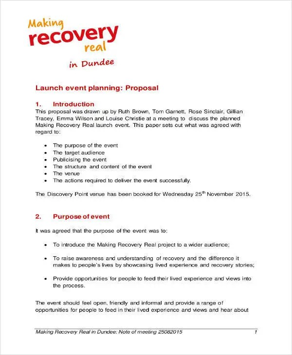 8+ Event Project Plan Templates - PDF Free  Premium Templates