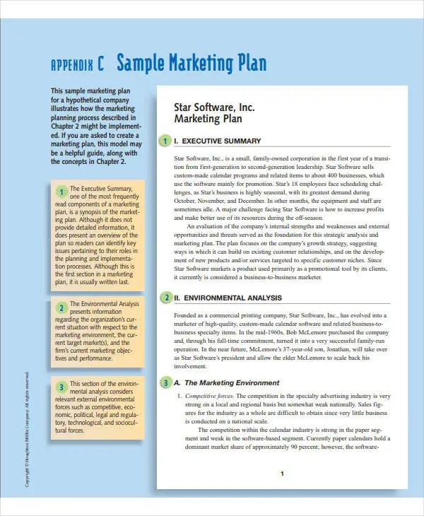 8 small business marketing plan templates doc pdf free