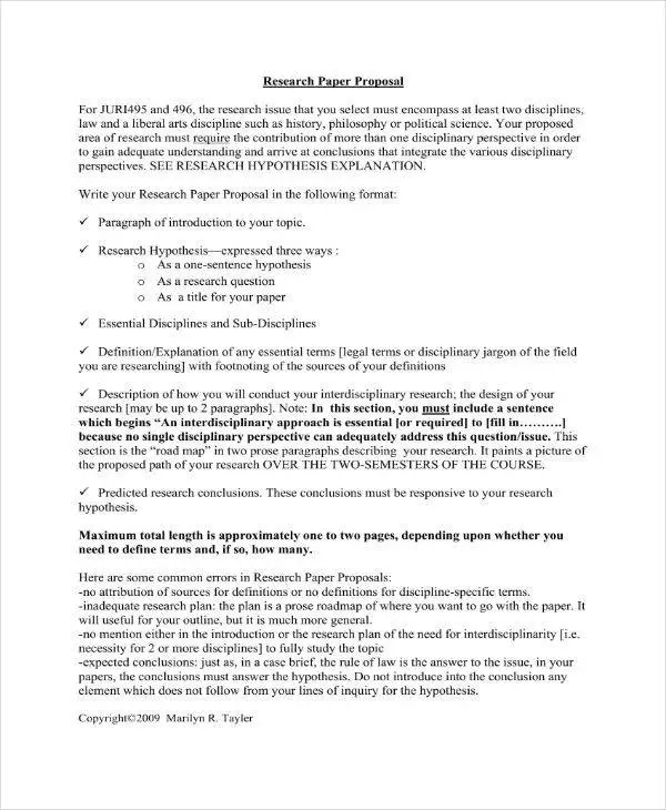 12+ Research Project Proposal Outline Templates - PDF Free