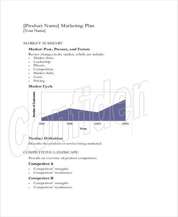 8+ Product Marketing Plan Templates - PDF Free  Premium Templates