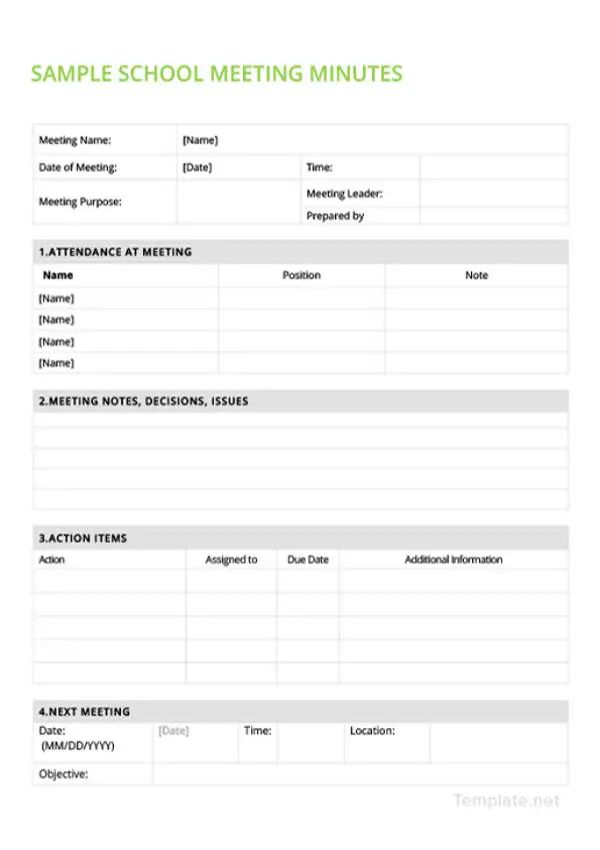 corporate minutes template free