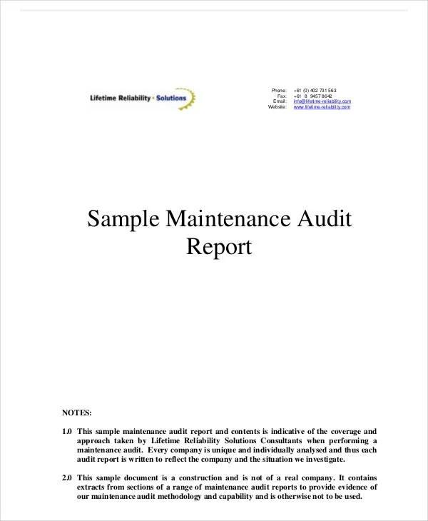 11+ System Audit Report Templates - PDF Free  Premium Templates
