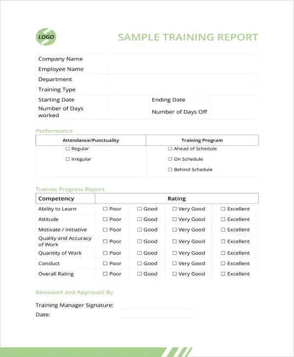 22+ Training Report Template - Free Sample, Example Format Download