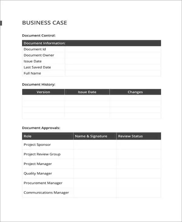 13+ Business Case Templates - PDF, DOC Free  Premium Templates