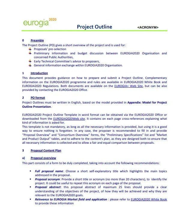 12+ Project Proposal Outline Templates - PDF, Word Free  Premium
