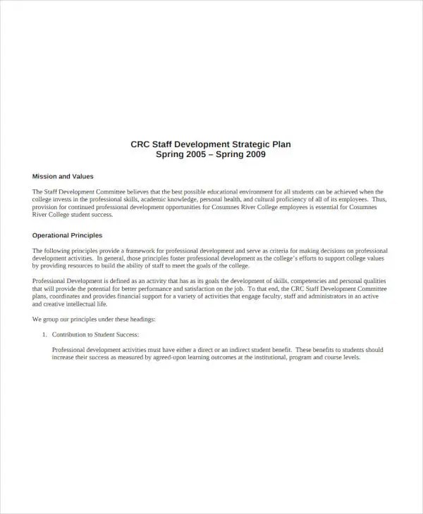 10+ Academic Staff Development Plan Templates - PDF Free  Premium