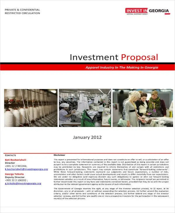 10+ Startup Investment Proposal Templates - PDF, Word Free
