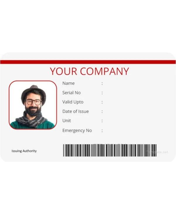 16+ Vertical Identification Card Designs  Templates - PSD, AI, EPS