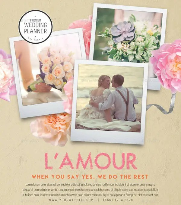 19+ Wedding Planner Flyer Designs  Templates - PSD, AI, Word, EPS