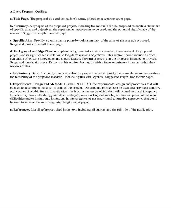 Outline Of Research Paper Proposal - Organizing Your Social Sciences