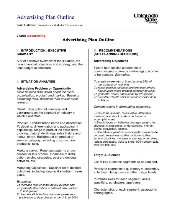 13+ Advertising and Marketing Business Plan Templates - PDF Free
