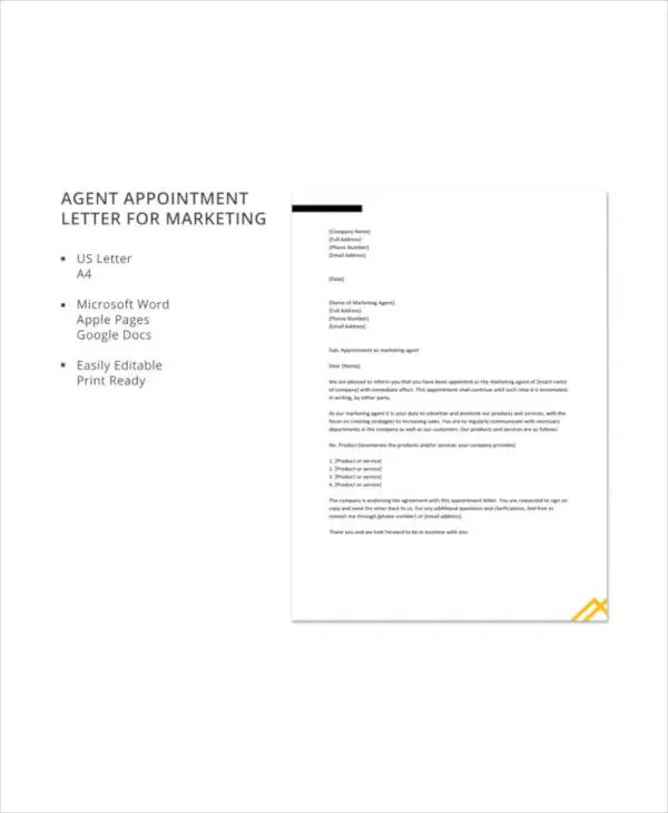 Appointment Letter Sample And 29 Sample Appointment Letters