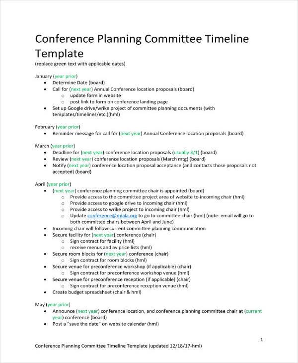 4+ Conference Project Plan Templates - PDF Free  Premium Templates