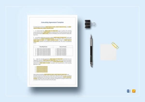 9+ Marketing Consulting Agreement Templates - PDF Free  Premium