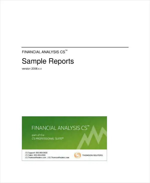 financial analysis report example - Pinarkubkireklamowe
