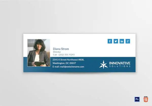 email signature html template
