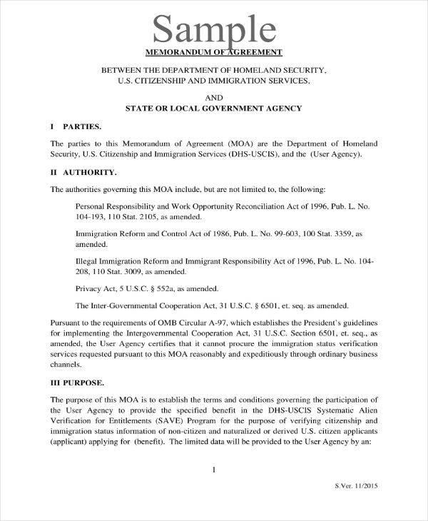 samples of memorandum