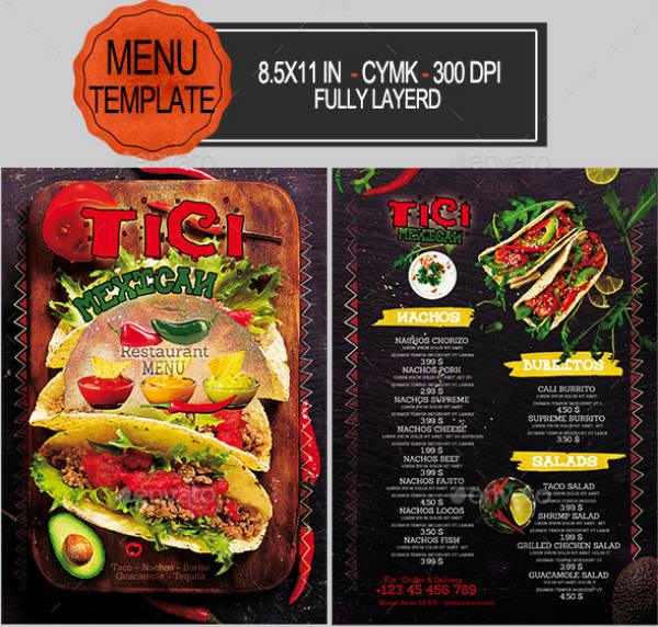 powerpoint restaurant menu
