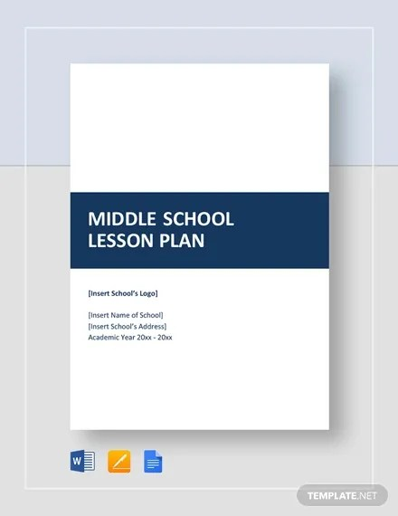 Middle School Lesson Plan Template - 7+ Free Word, Excel, PDF Format