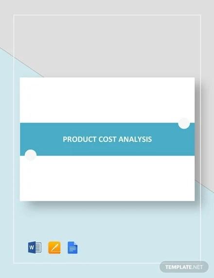 28+ Cost Analysis Templates - PDF, DOC Free  Premium Templates