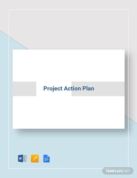 Project Action Plan Template - 16+ Free Word, Excel, PDF Format