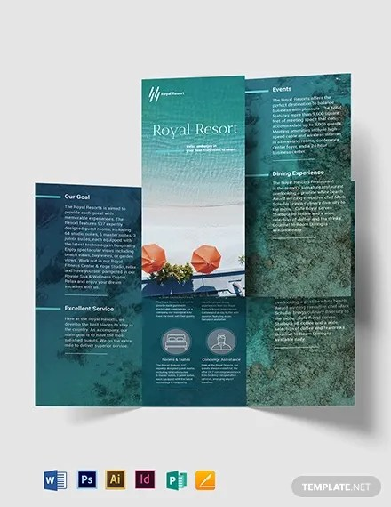 17+ Resort Brochure Template - AI, PSD, Google Docs, Apple pages