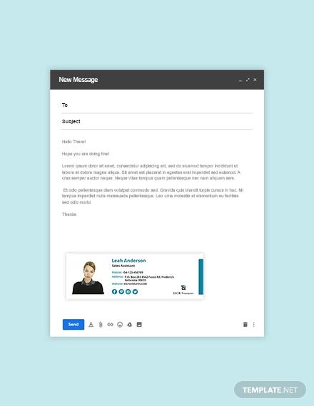 11+ Sales Email Signature Designs  Templates - PSD, AI Free