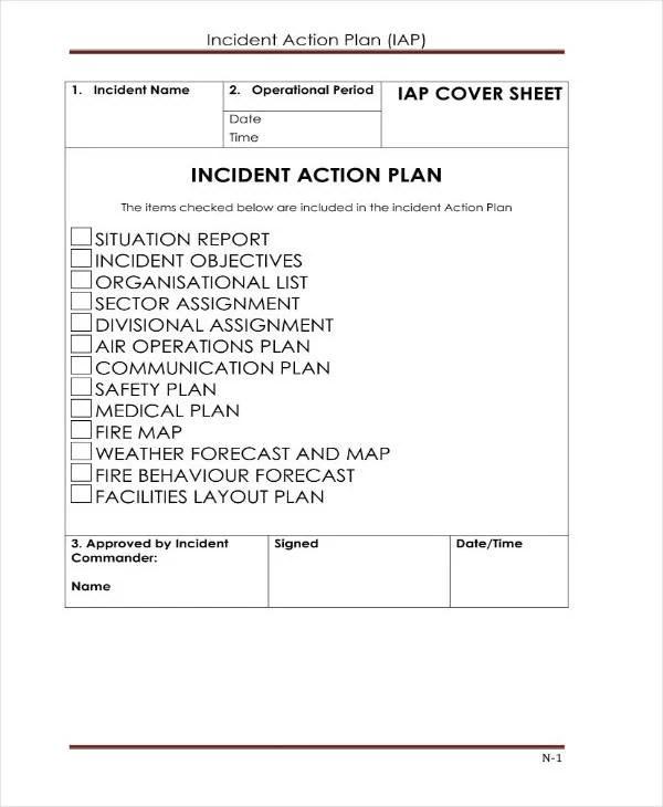 9+ Incident Action Plan Templates - PDF, Word Free  Premium Templates