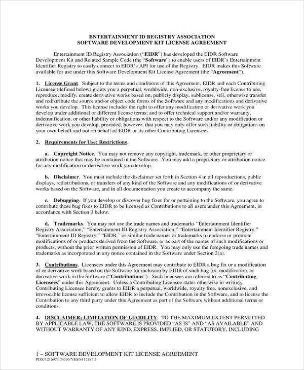 18+ Software Development and License Agreement Templates - PDF, Word