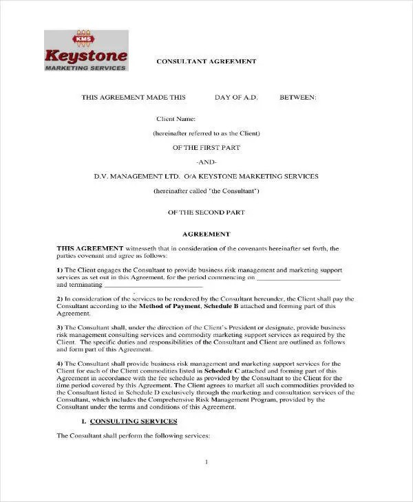 12+ Marketing Consulting Agreement Templates - PDF, Word Free