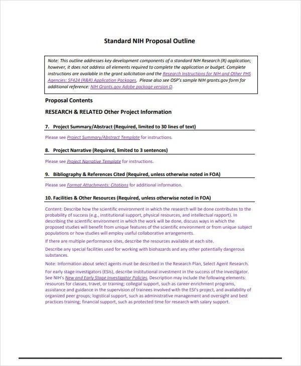 13+ Topic Proposal Outline Templates - PDF Free  Premium Templates