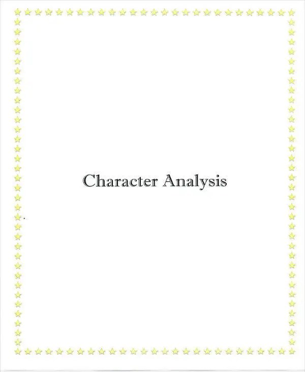 8+ Character Analysis Templates - PDF Free  Premium Templates
