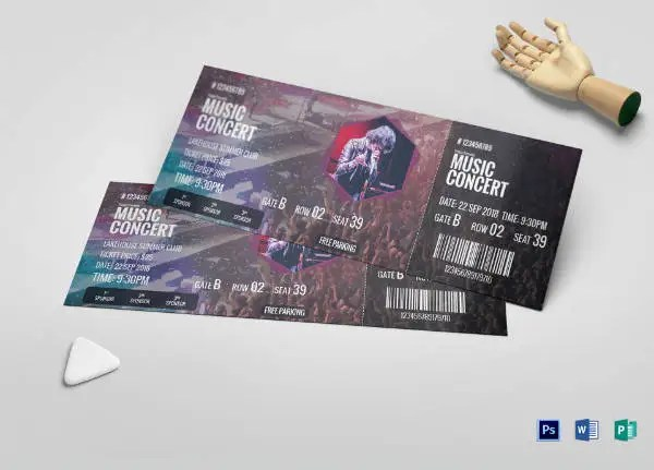 14+ Musical Concert Ticket Designs  Templates - PSD, AI, Word