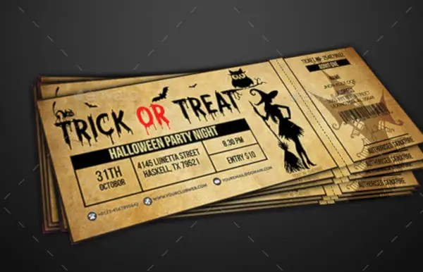 12+ Halloween Party Ticket Designs  Templates - PSD, AI, InDesign