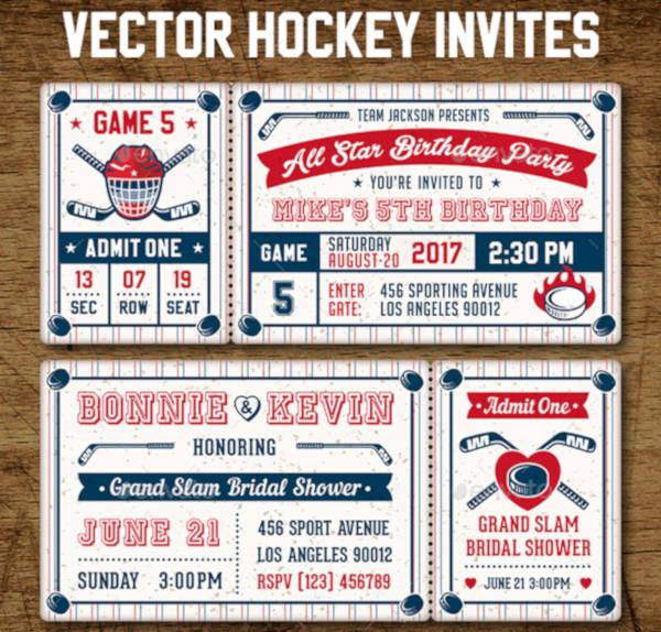 13+ Sports Ticket Invitation Designs  Templates - PSD, AI, Word