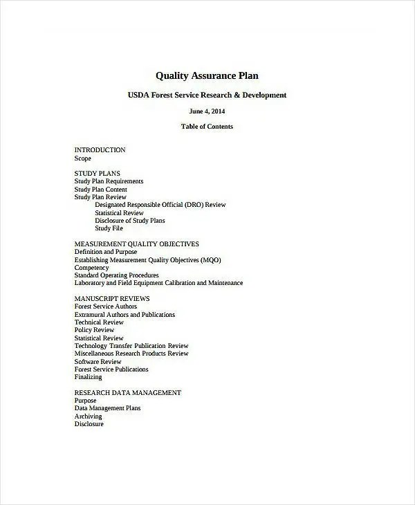 9+ Laboratory Quality Assurance Plan Templates - PDF, DOC Free