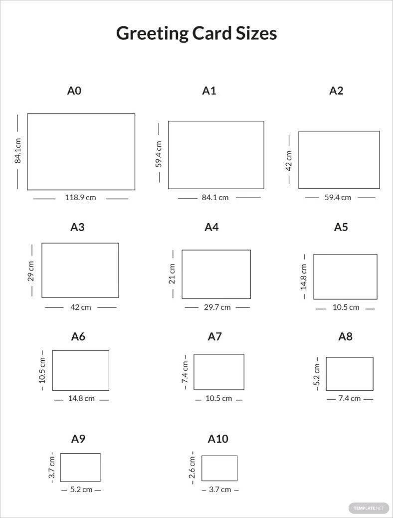 greeting card sizes
