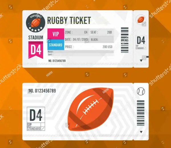 9+ Rugby Game Ticket Designs  Templates - PSD, AI, Word, Publisher