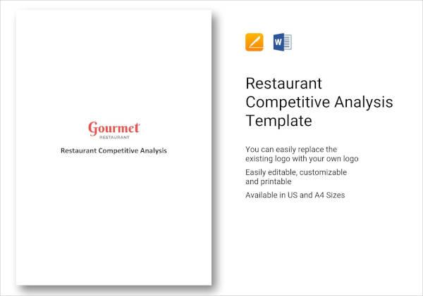 4+ Restaurant Competitive Analysis Templates - XLS, PDF, DOC Free