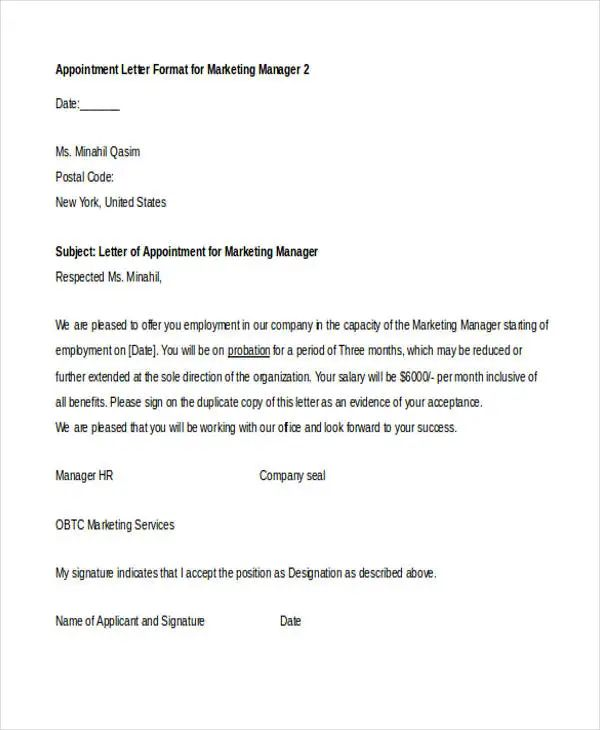 application letter as a sales representative