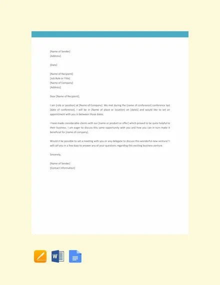 18+ Sample Appointment Request Letters - PDF, DOC Free  Premium
