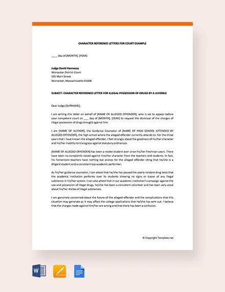 12+ Sample Character Reference Letter Templates - PDF, DOC Free