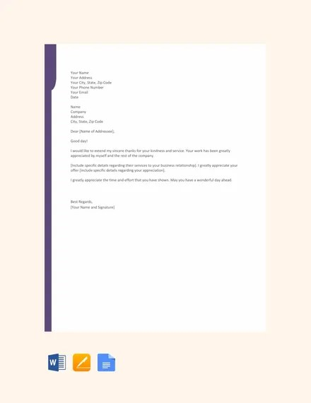 11+ Thank You Letter For Appreciation - PDF, DOC Free  Premium