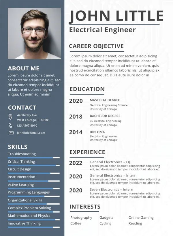 mba school resume template