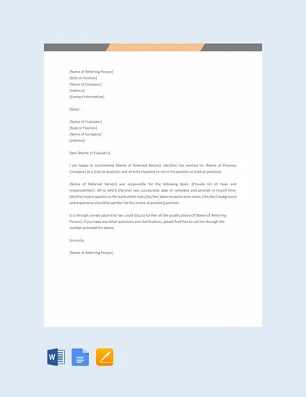 13+ Employment Reference Letter Templates - Free Sample, Example