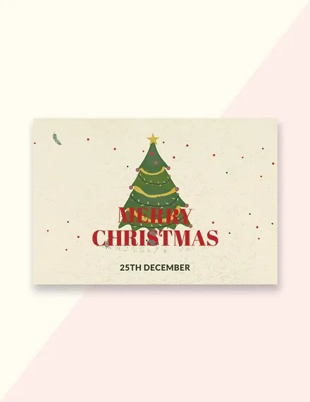 19+ Christmas Card Designs - PSD, Word, Appel Pages Free  Premium