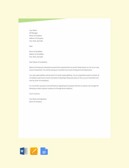 12+ Proposal Letter Templates - Free Sample, Example Format Download