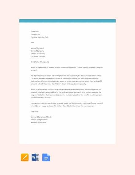 33+ Proposal Letter Templates - DOC, PDF Free  Premium Templates