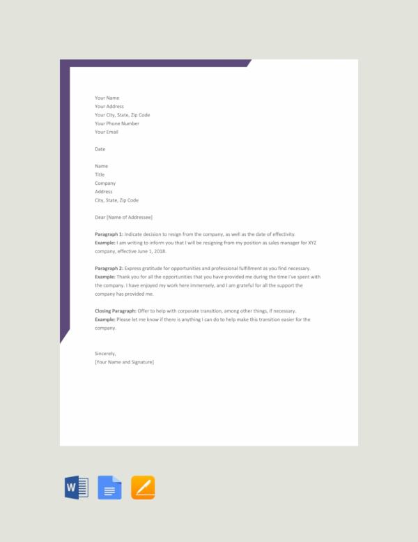 simple sample resignation letter - Pinarkubkireklamowe